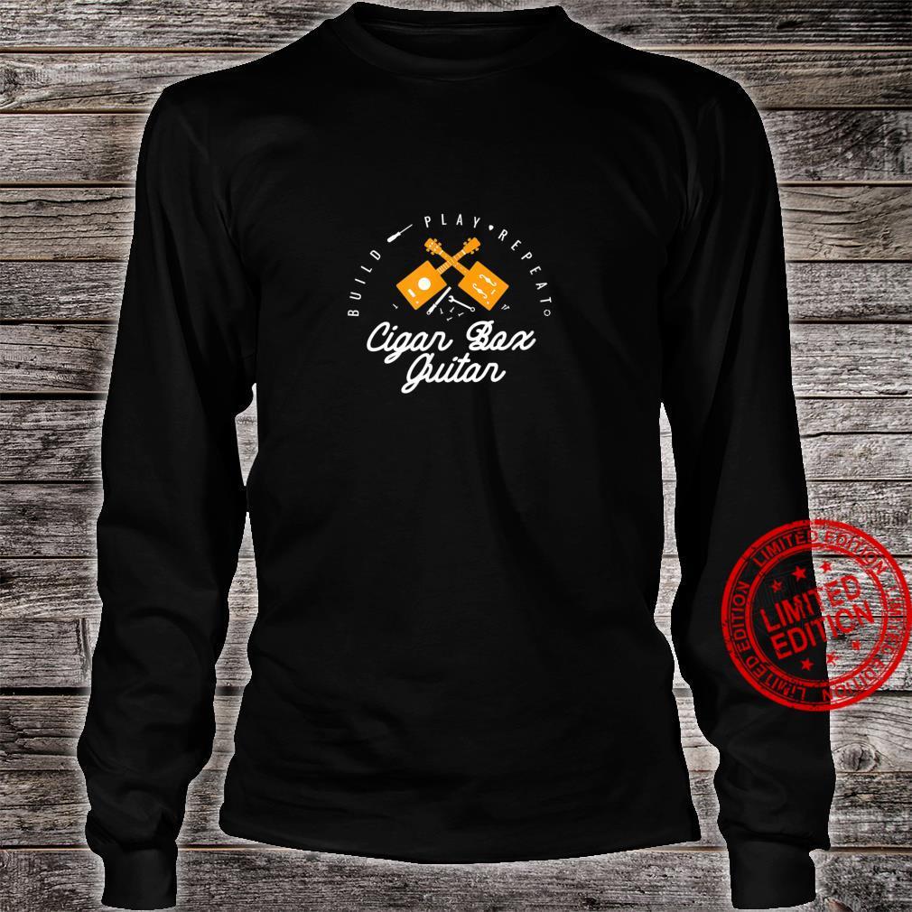 Funny Cigar Box Guitar Guitarist Bassist Music Shirt long sleeved
