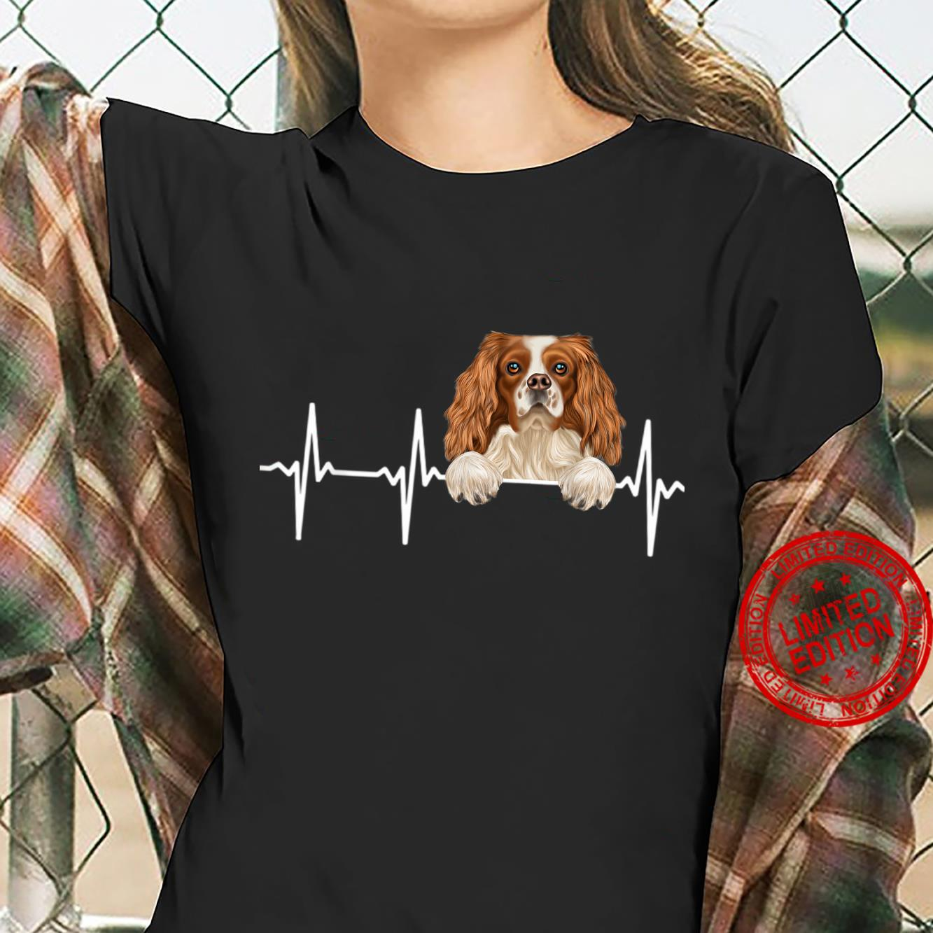 Funny Dog Heartbeat For English Toy Spaniels Shirt ladies tee