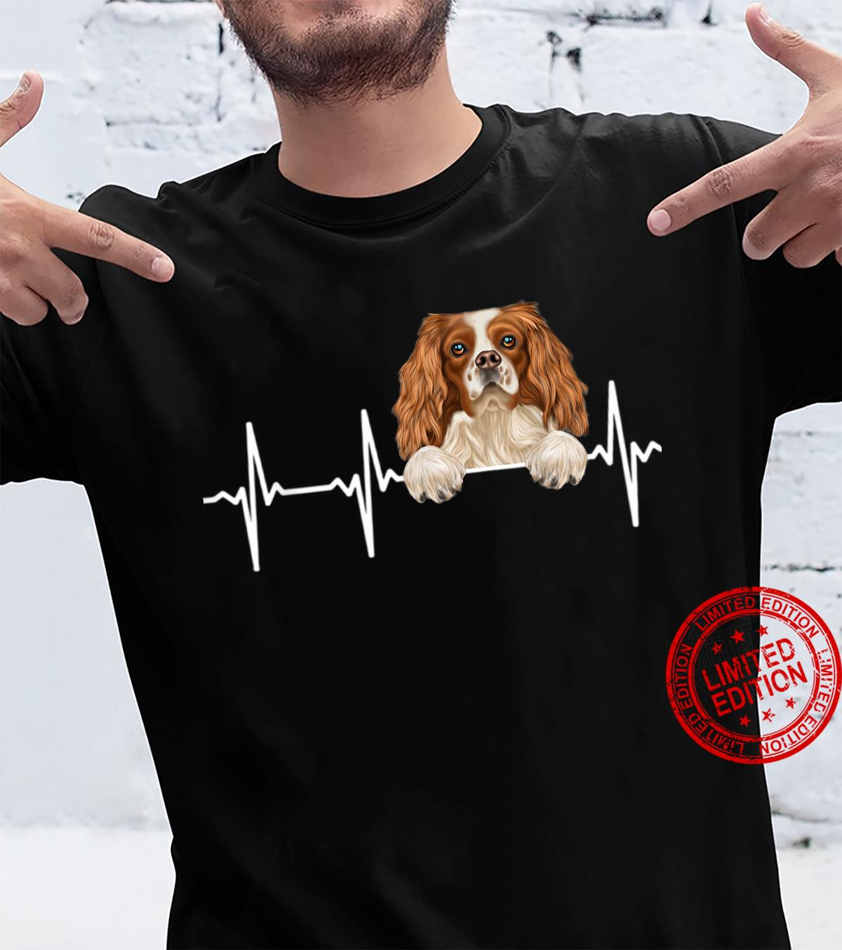 Funny Dog Heartbeat For English Toy Spaniels Shirt