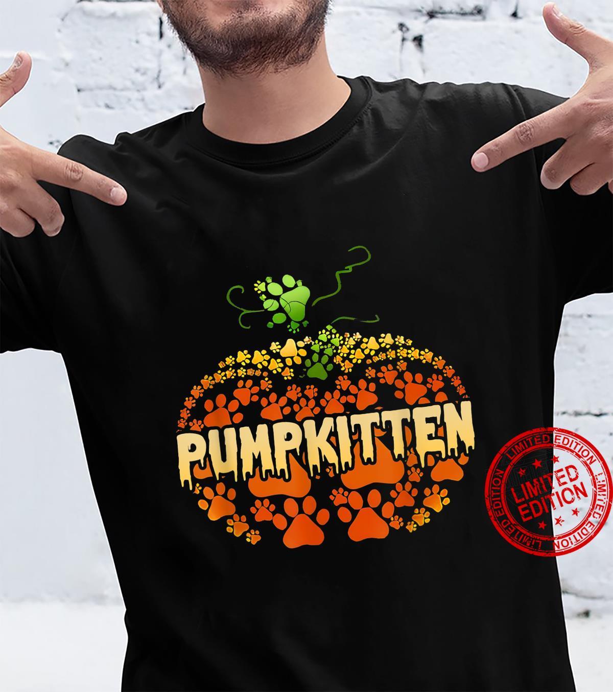 Funny Pumpkin Paws Cat Halloween Pumpkin Cat Paws Shirt