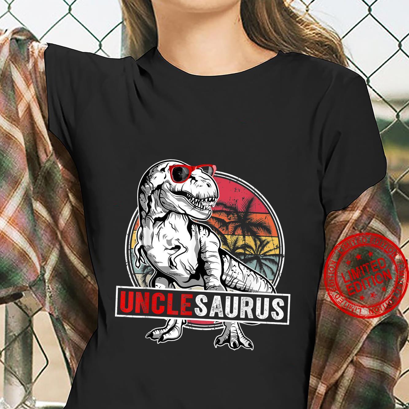 Funny Uncle Saurus Family T Rex Dinosaur UncleSaurus Shirt ladies tee