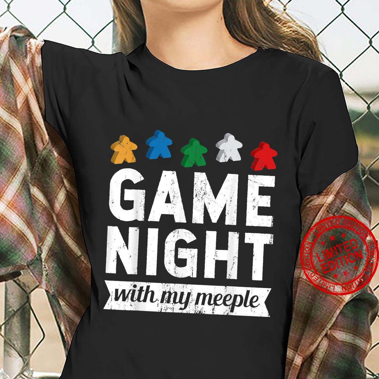 Game Night With My Meeple Board Game Player Shirt ladies tee