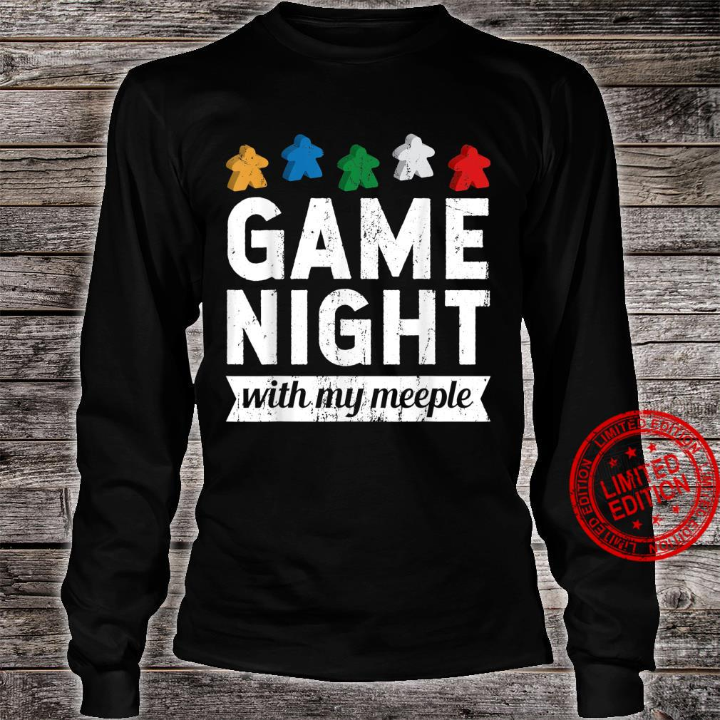 Game Night With My Meeple Board Game Player Shirt long sleeved