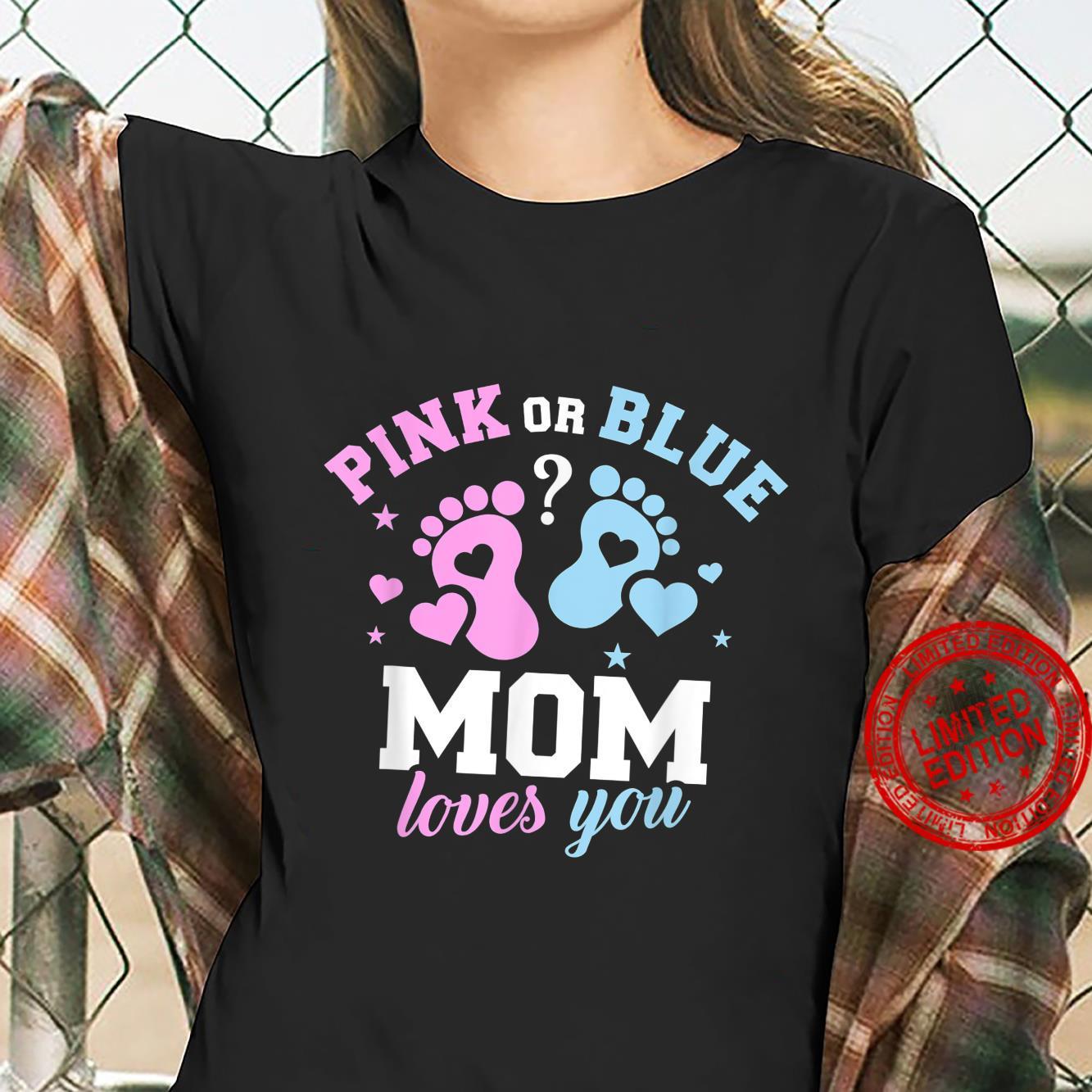 Gender reveal mom Shirt ladies tee