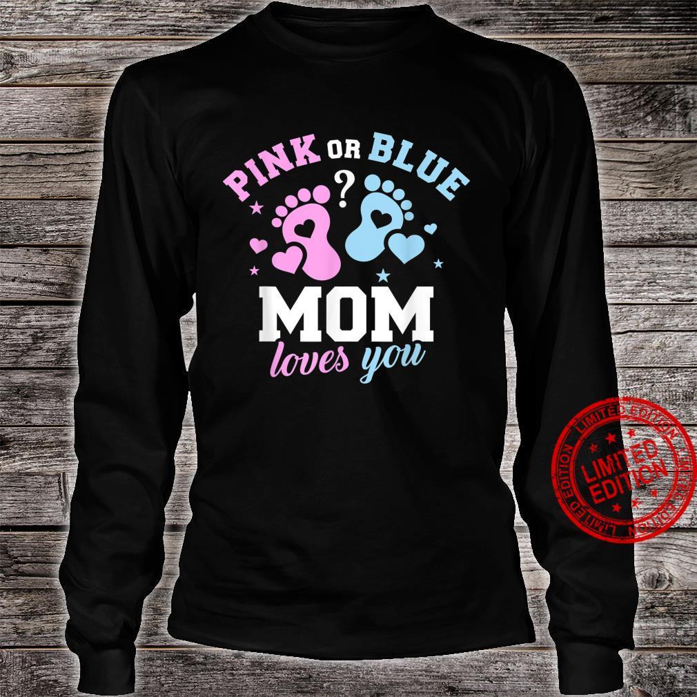 Gender reveal mom Shirt long sleeved