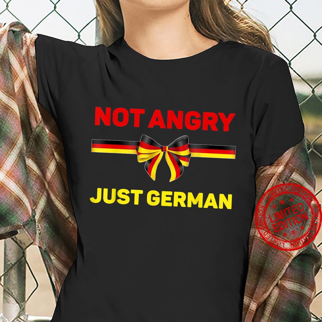 Germany Flag Shirt Not Angry Just German Oktoberfest German Shirt ladies tee