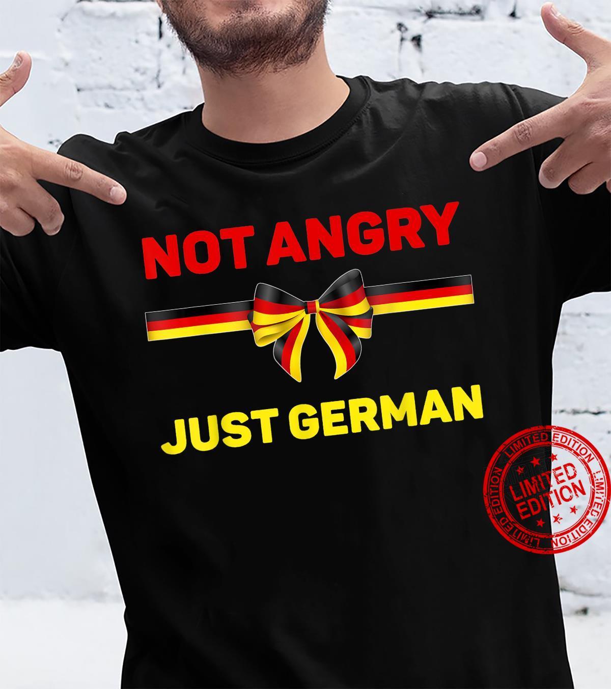 Germany Flag Shirt Not Angry Just German Oktoberfest German Shirt