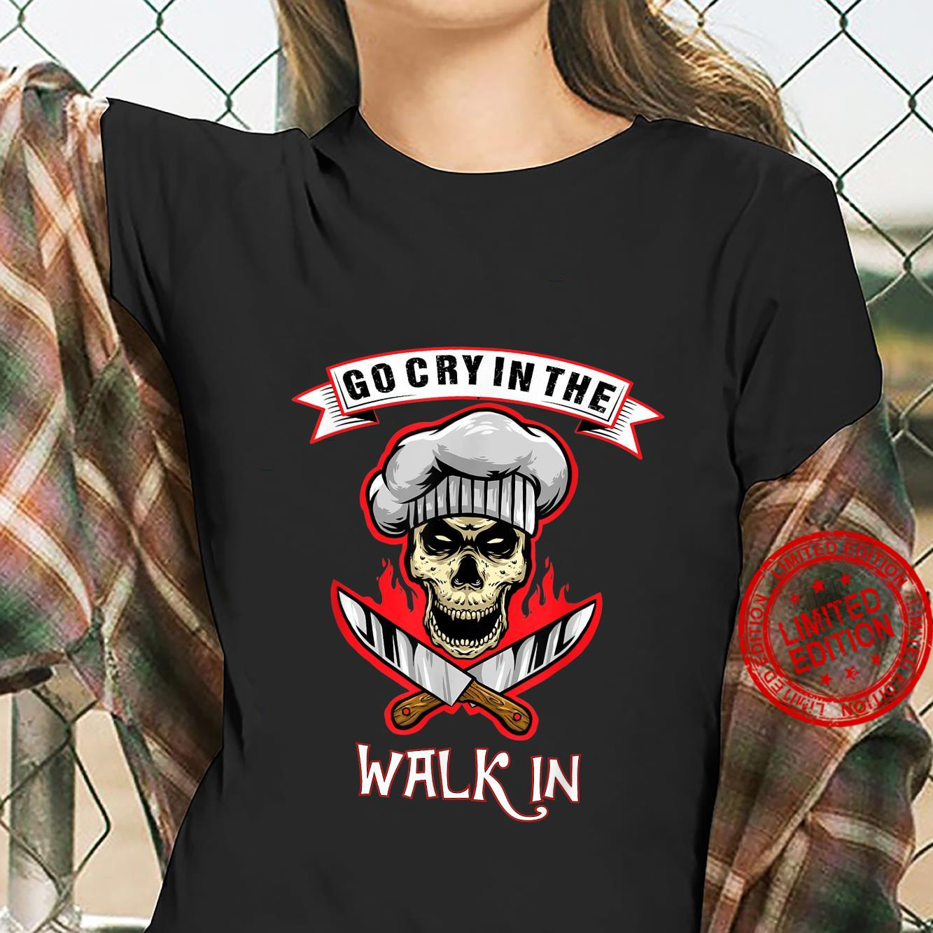 Go Cry In The Walk In Halloween Chef Retro Vintage Shirt ladies tee