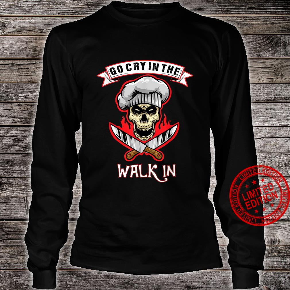 Go Cry In The Walk In Halloween Chef Retro Vintage Shirt long sleeved