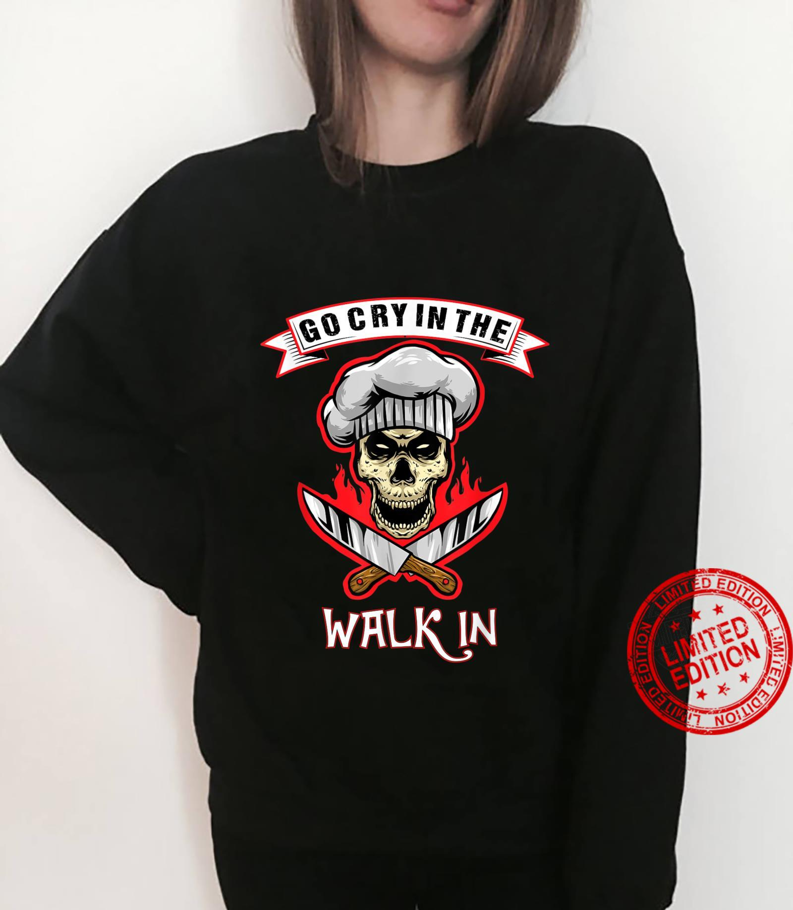Go Cry In The Walk In Halloween Chef Retro Vintage Shirt sweater