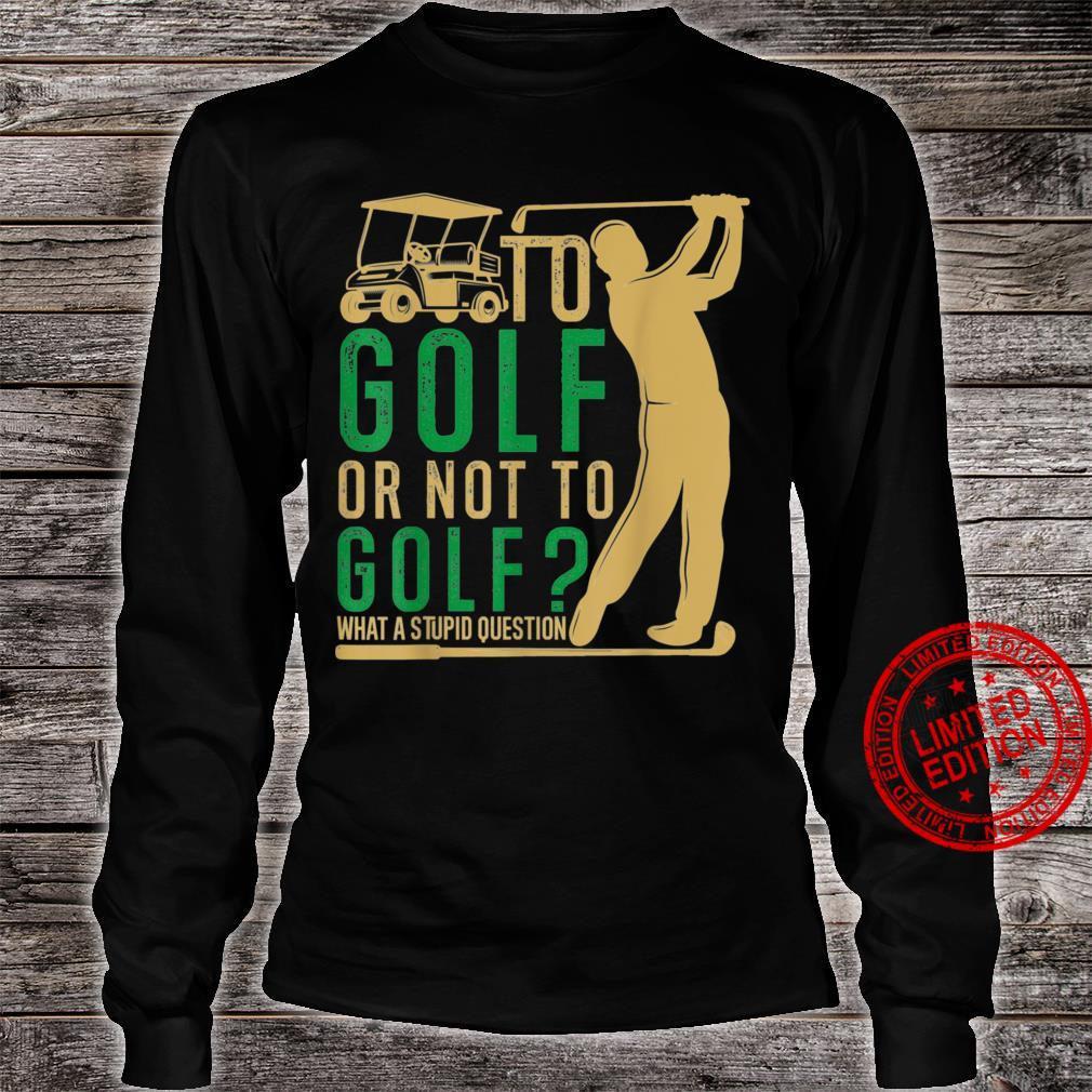 GolfSoul Golfer Playing Golf Golf Player and Classic Shirt long sleeved
