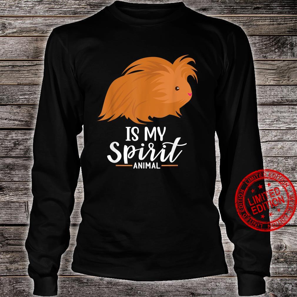 Guinea Pig Is My Spirit Animal I & Ladies Shirt long sleeved