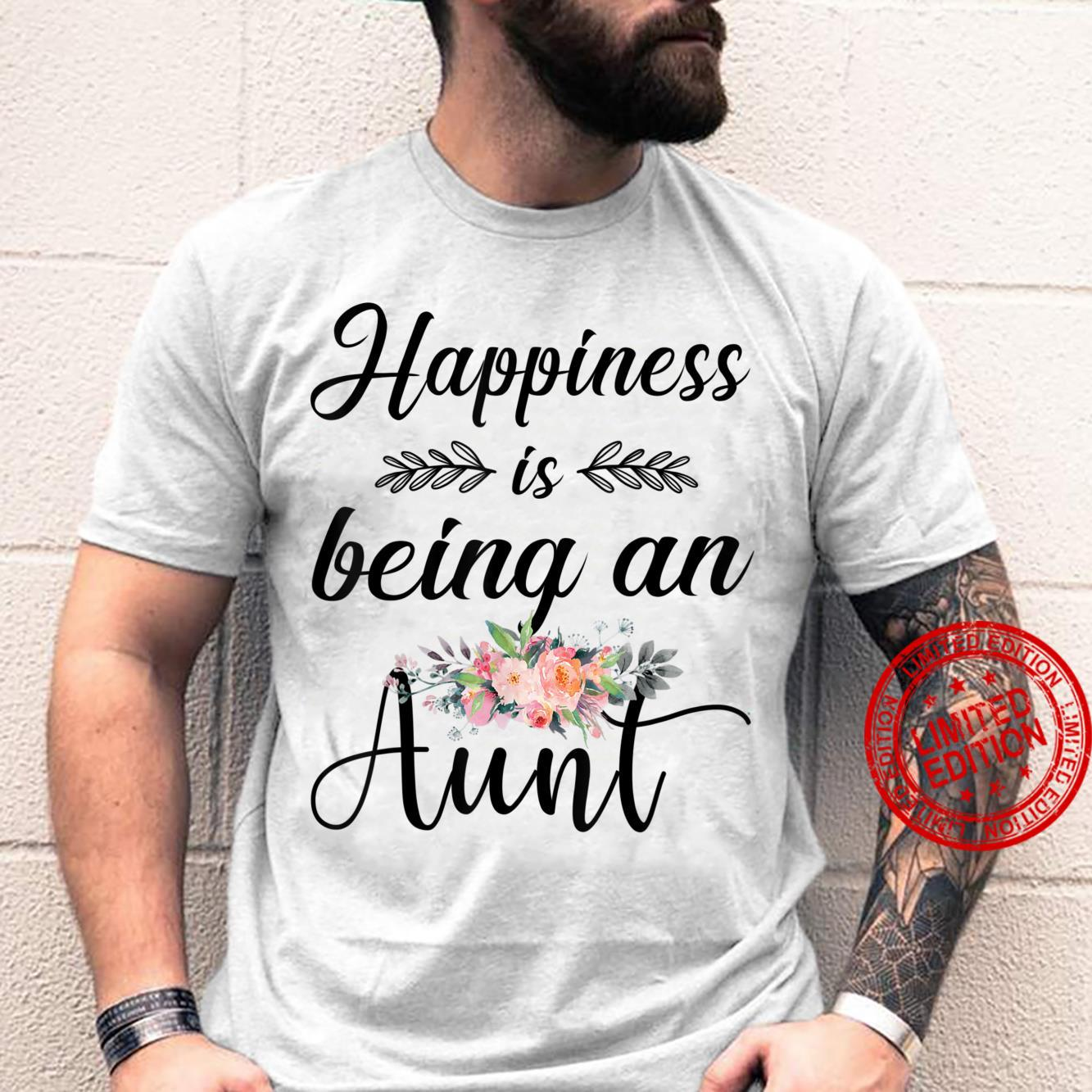 Happiness Is Being An Aunt Flower Shirt