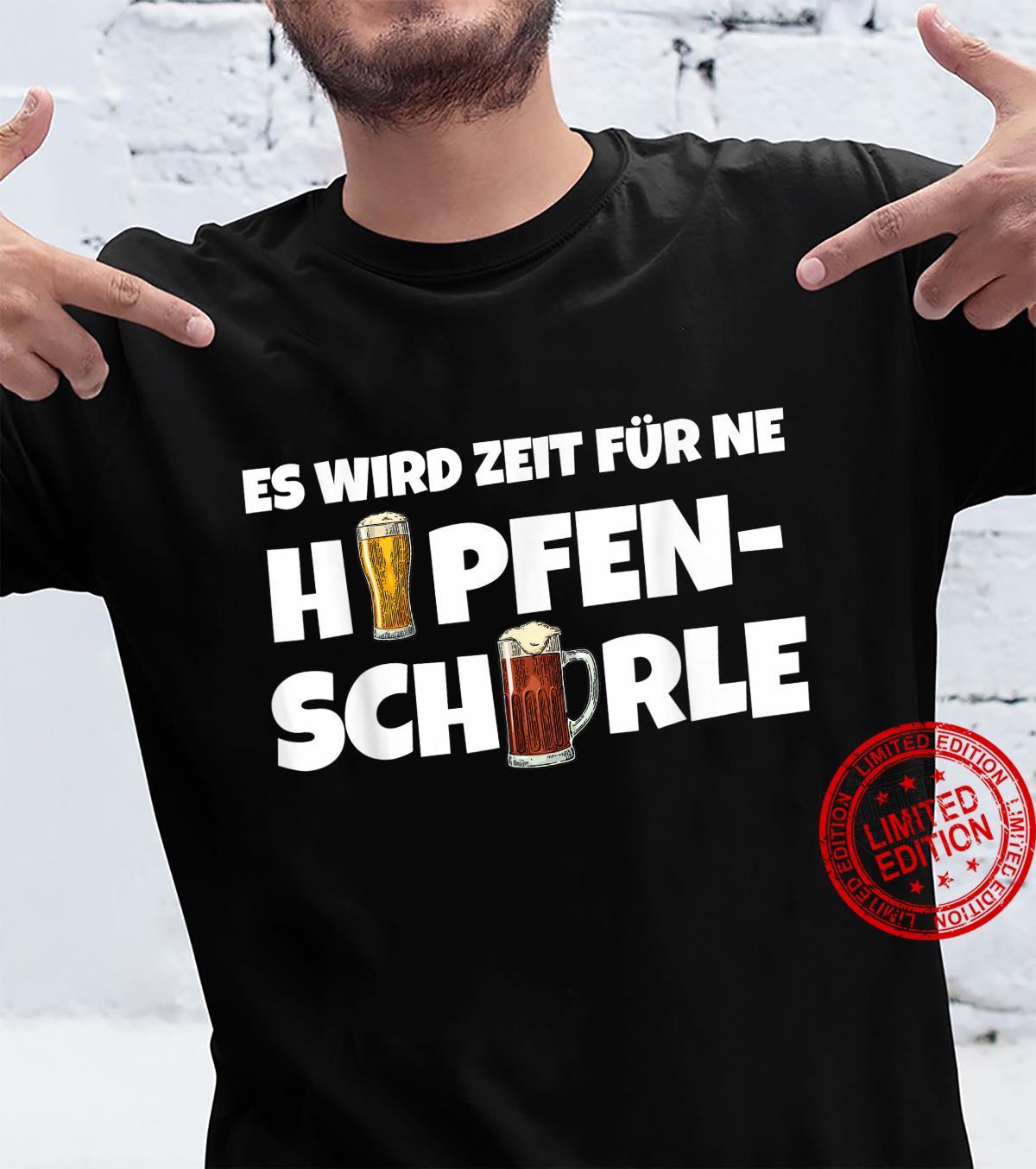 Hopfenschorle Bier Kaltgetränk Biergarten Party Festival gag Shirt