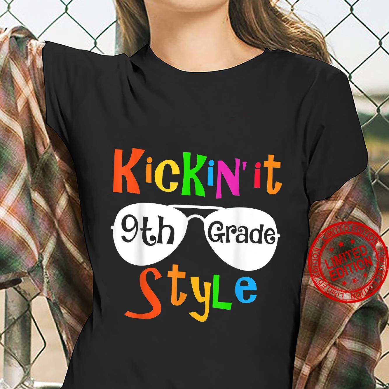 Kickin' it 9th Grade First Day Back to School Teachers Shirt ladies tee