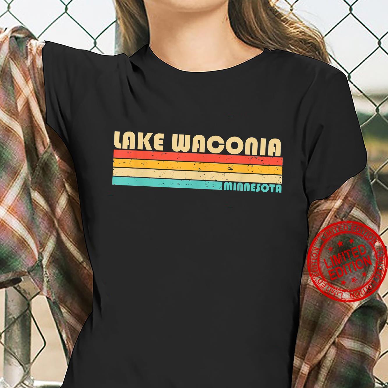LAKE WACONIA MINNESOTA Fishing Camping Summer Shirt ladies tee