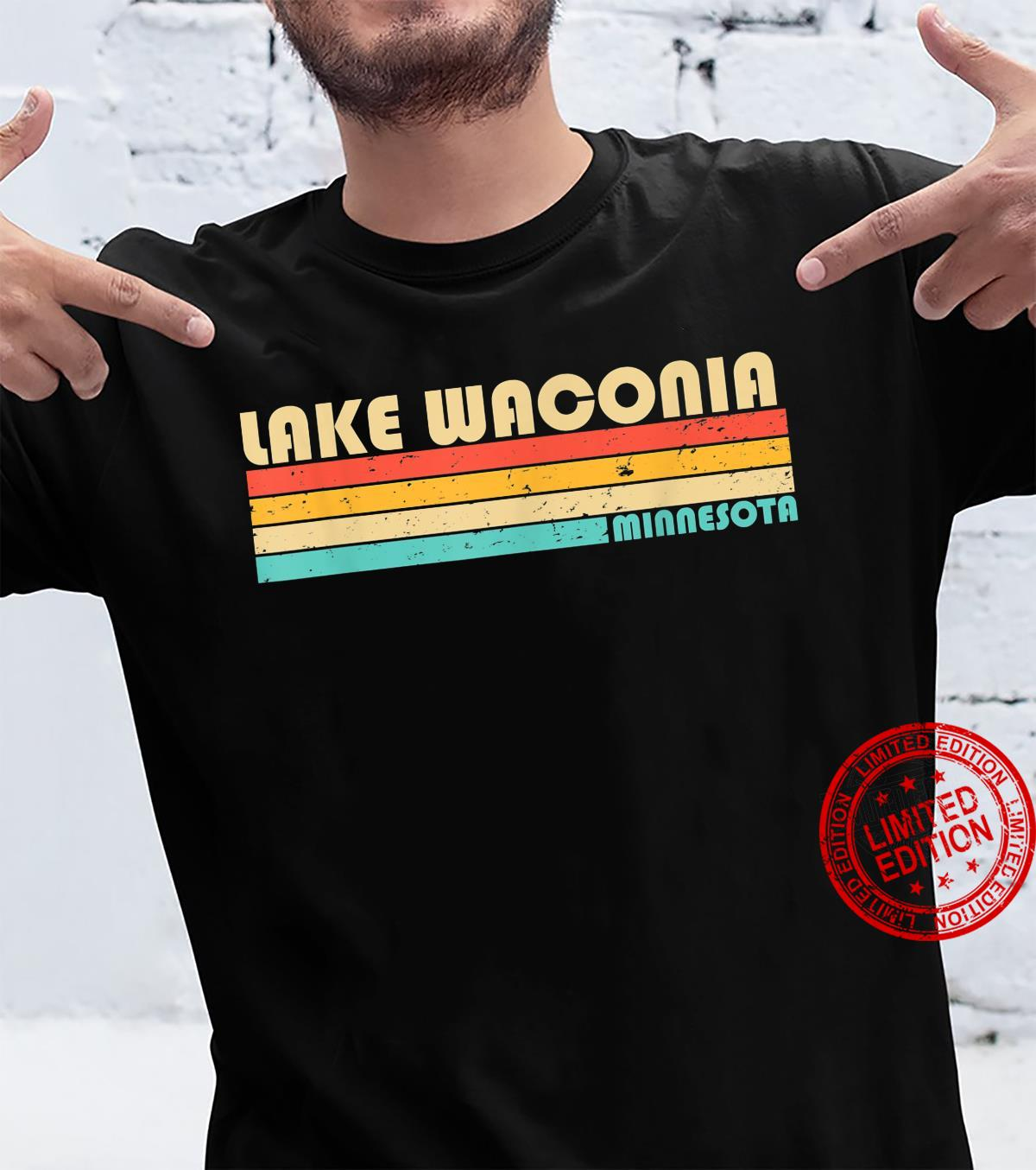 LAKE WACONIA MINNESOTA Fishing Camping Summer Shirt