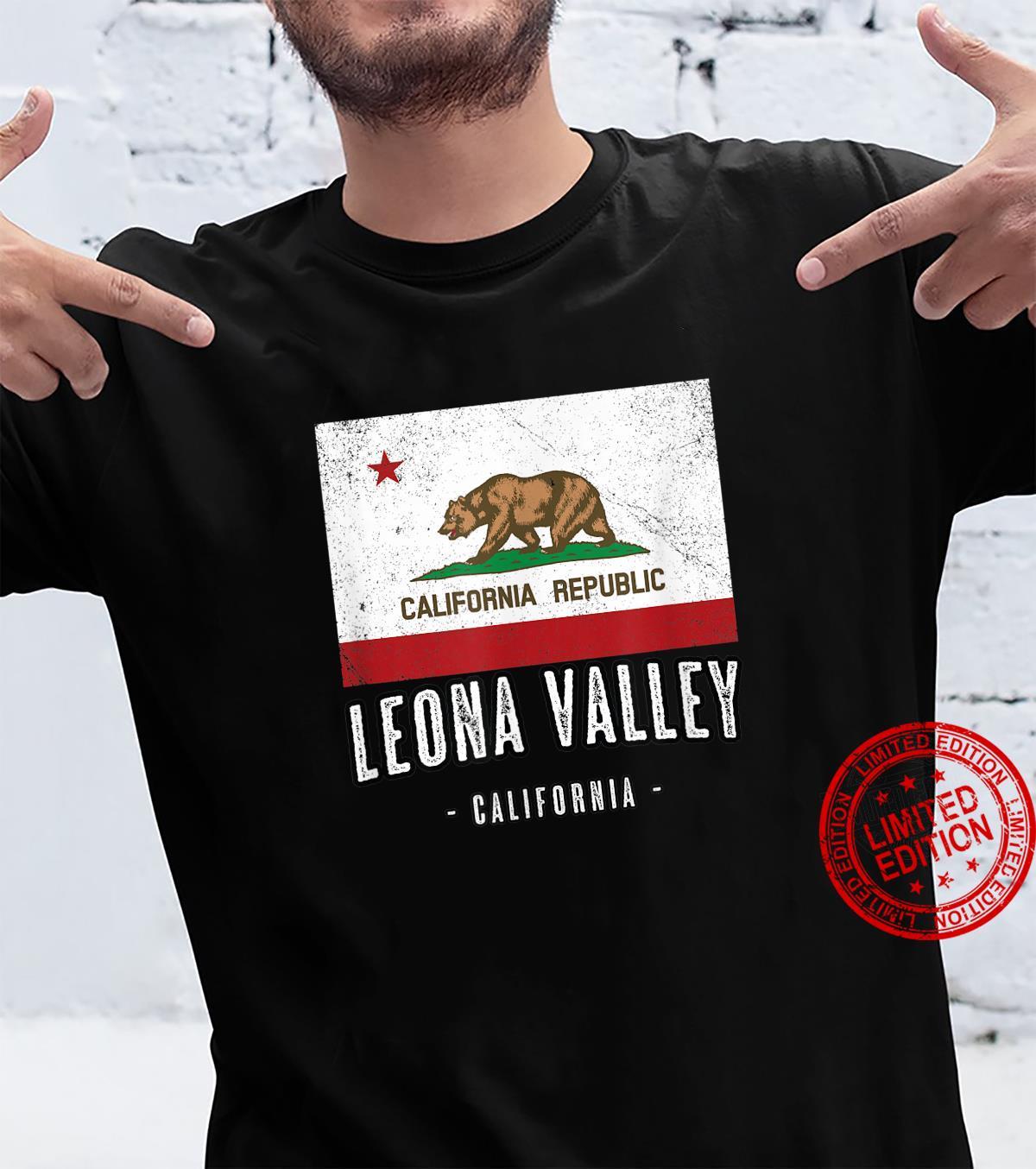 LEONA VALLEY California Cali City Souvenir CA Flag Shirt