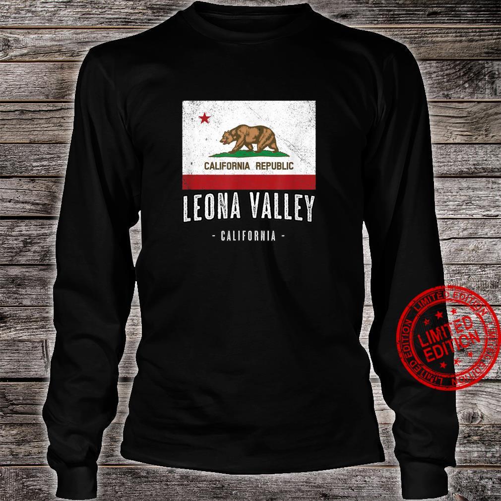 LEONA VALLEY California Cali City Souvenir CA Flag Shirt long sleeved