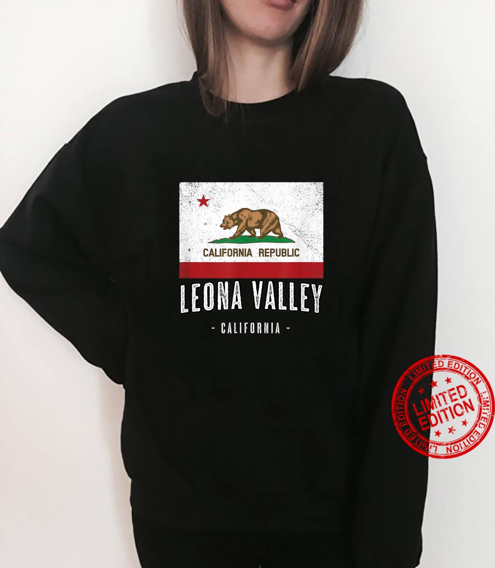 LEONA VALLEY California Cali City Souvenir CA Flag Shirt sweater