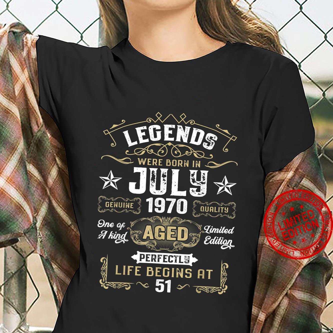 Legends Were Born In July 1970 51st Quarantine Birthday Shirt ladies tee