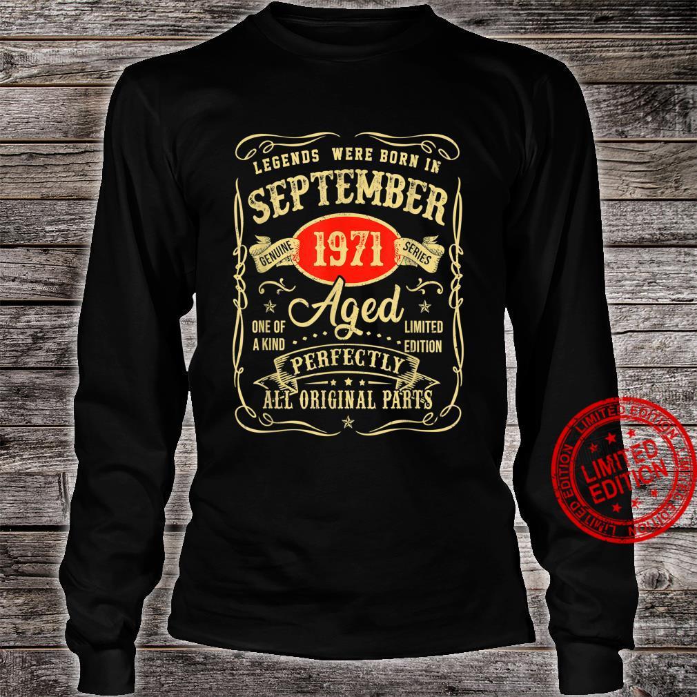Legends Were Born In September 1971 50Th Birthday Shirt long sleeved