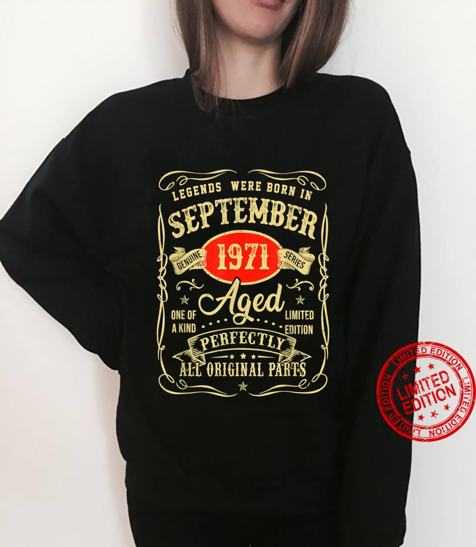 Legends Were Born In September 1971 50Th Birthday Shirt sweater
