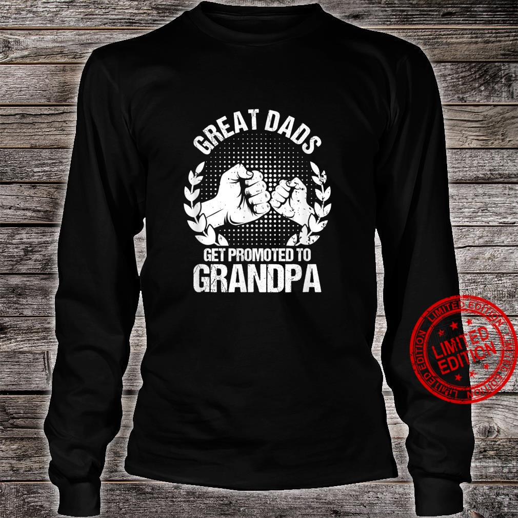 Mens Great Dads Get Promoted To Grandpa Father's Day Shirt long sleeved
