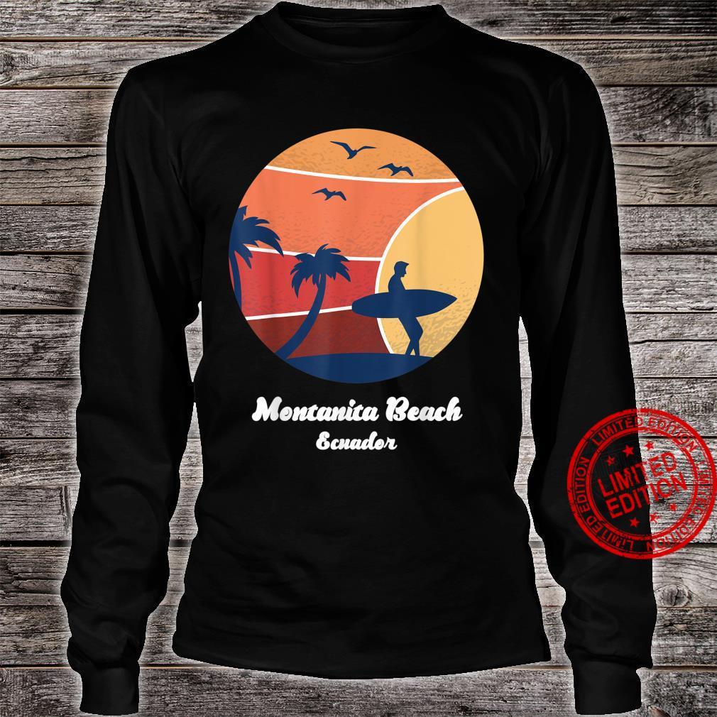 Montanita Beach Ecuador Surfing Vintage Surfer Beach Surf Shirt long sleeved