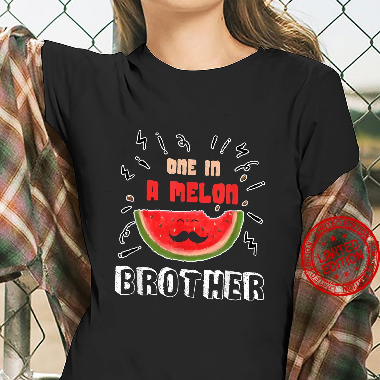 One In A Melon Brother Watermelon Design Shirt ladies tee