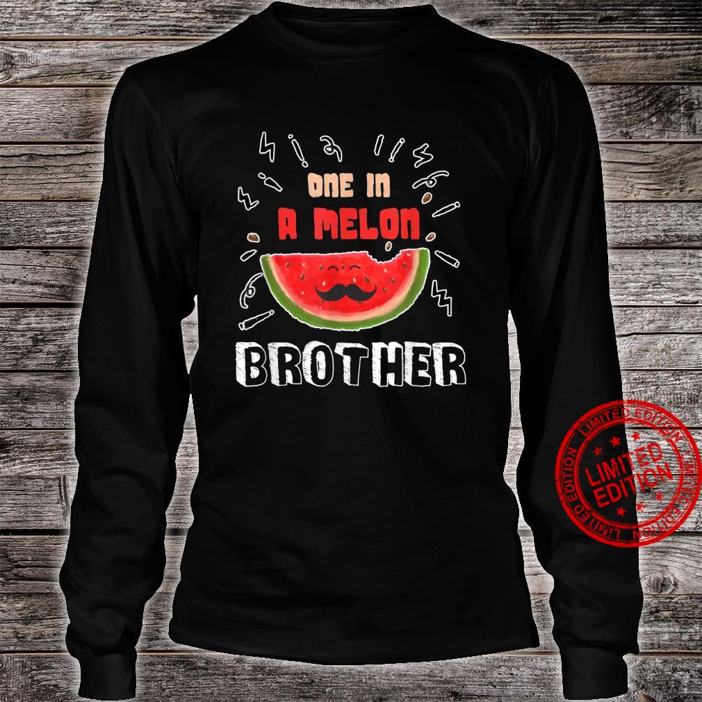 One In A Melon Brother Watermelon Design Shirt long sleeved