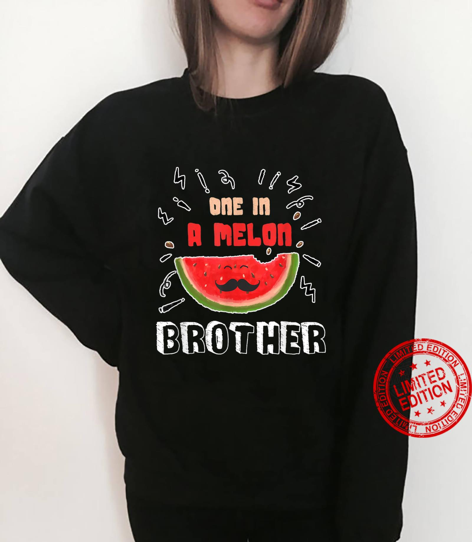 One In A Melon Brother Watermelon Design Shirt sweater