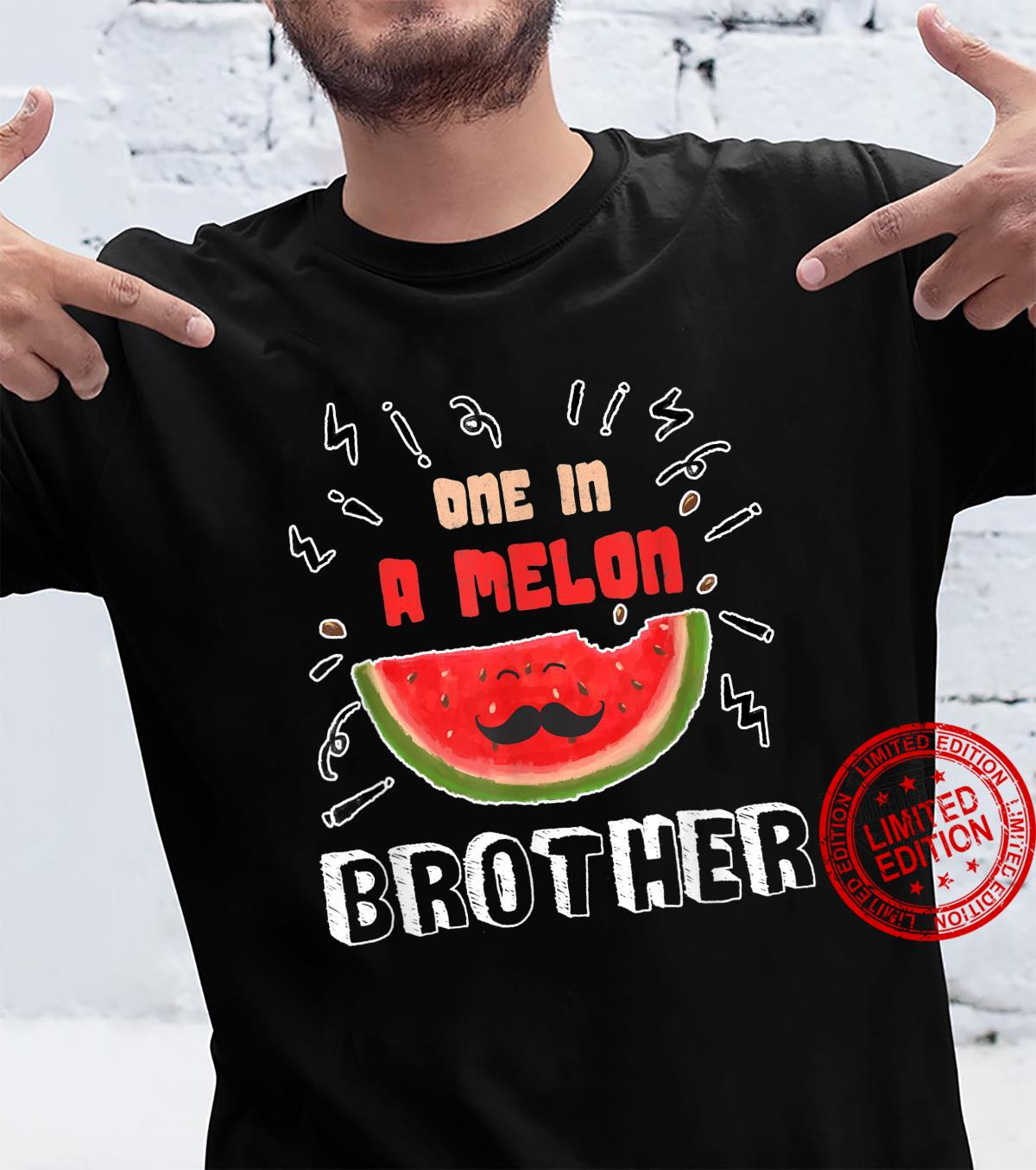 One In A Melon Brother Watermelon Design Shirt