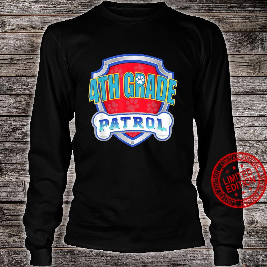 Paw 4Th Grade Patrol Teacher, Student Back To School Shirt long sleeved