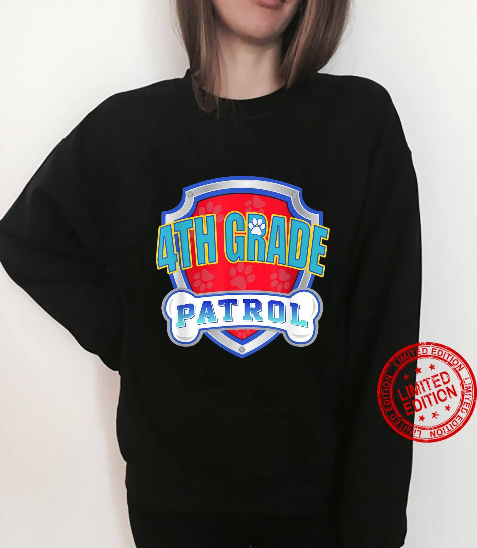 Paw 4Th Grade Patrol Teacher, Student Back To School Shirt sweater