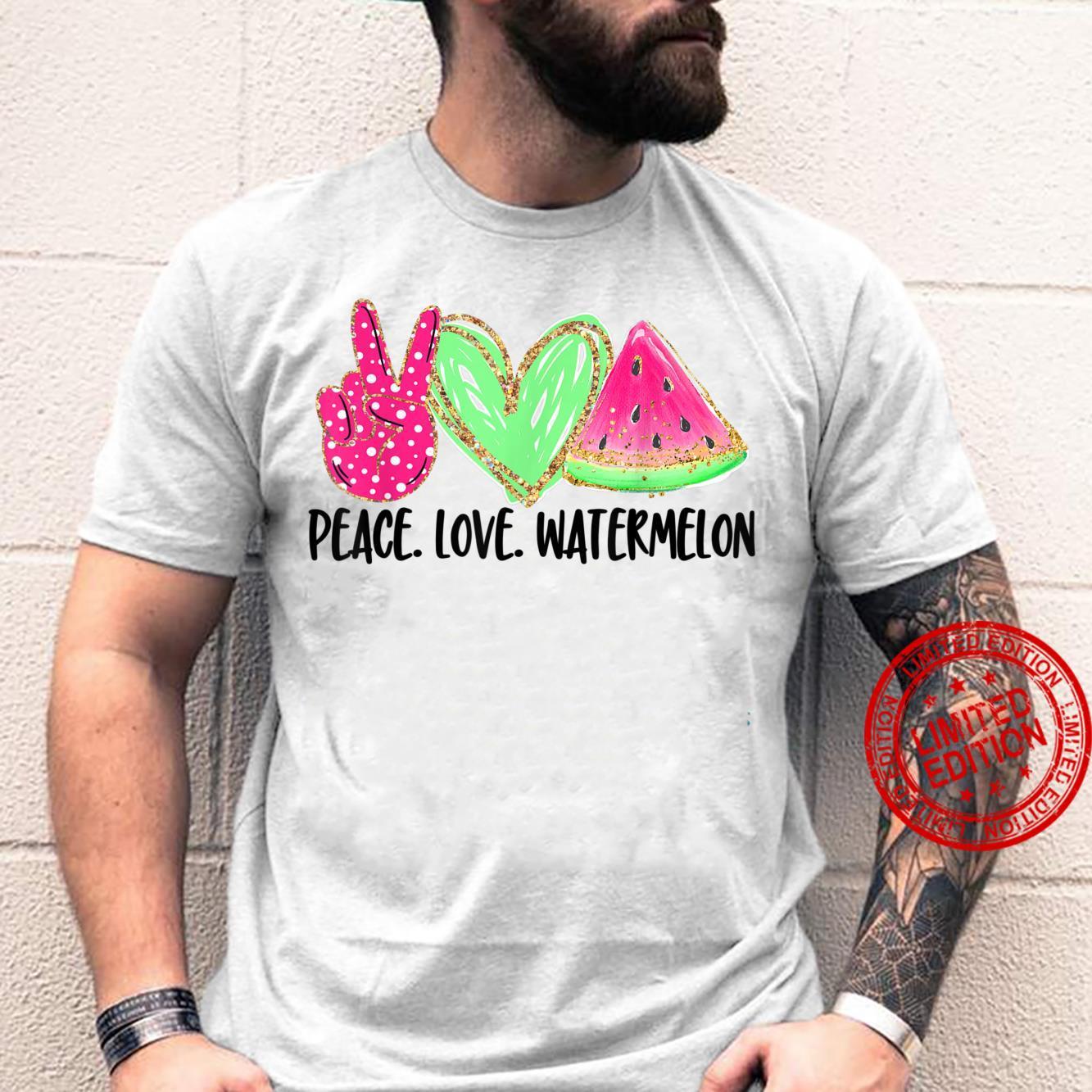 Peace Love Watermelon Happy Watermelon Day Shirt
