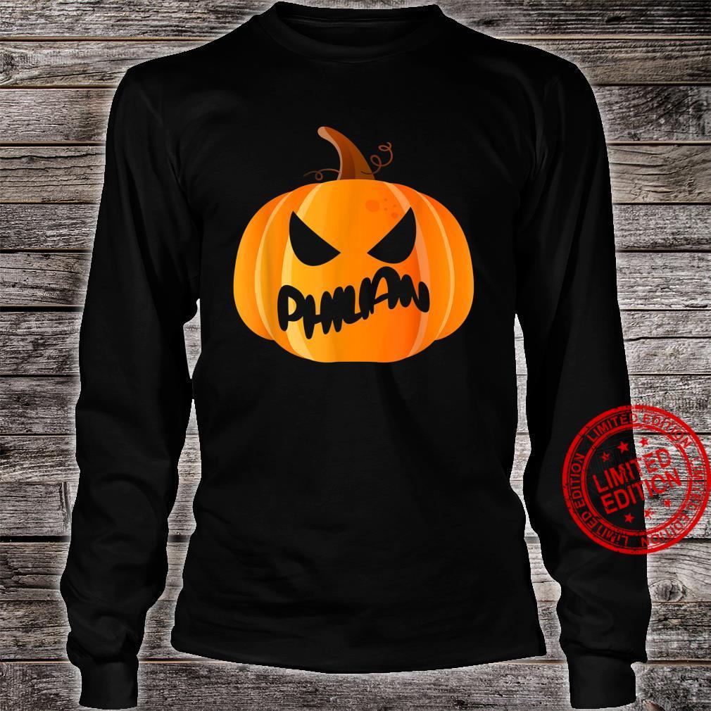 Philian Name Custom Pumpkin Personalized Halloween Shirt long sleeved