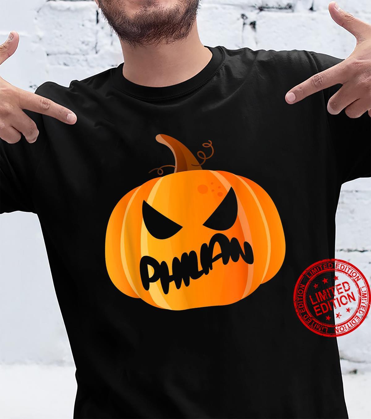 Philian Name Custom Pumpkin Personalized Halloween Shirt