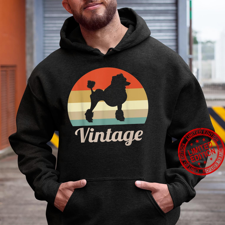 Poodle Dog Vintage Retro Style Shirt hoodie