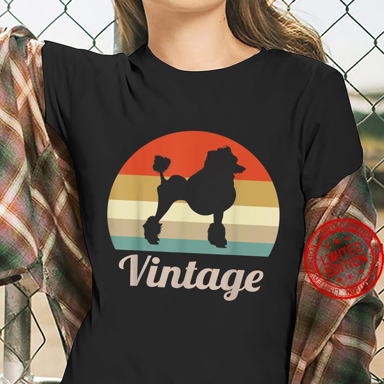 Poodle Dog Vintage Retro Style Shirt ladies tee