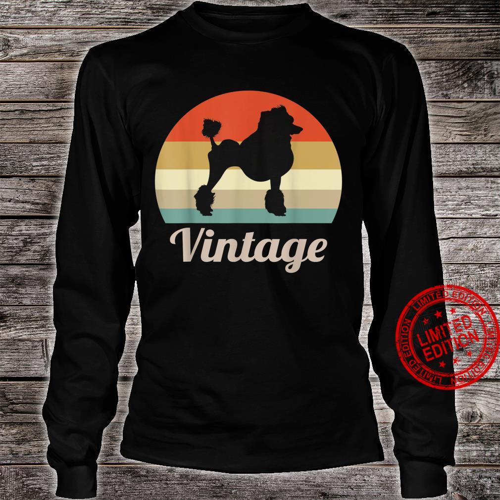 Poodle Dog Vintage Retro Style Shirt long sleeved