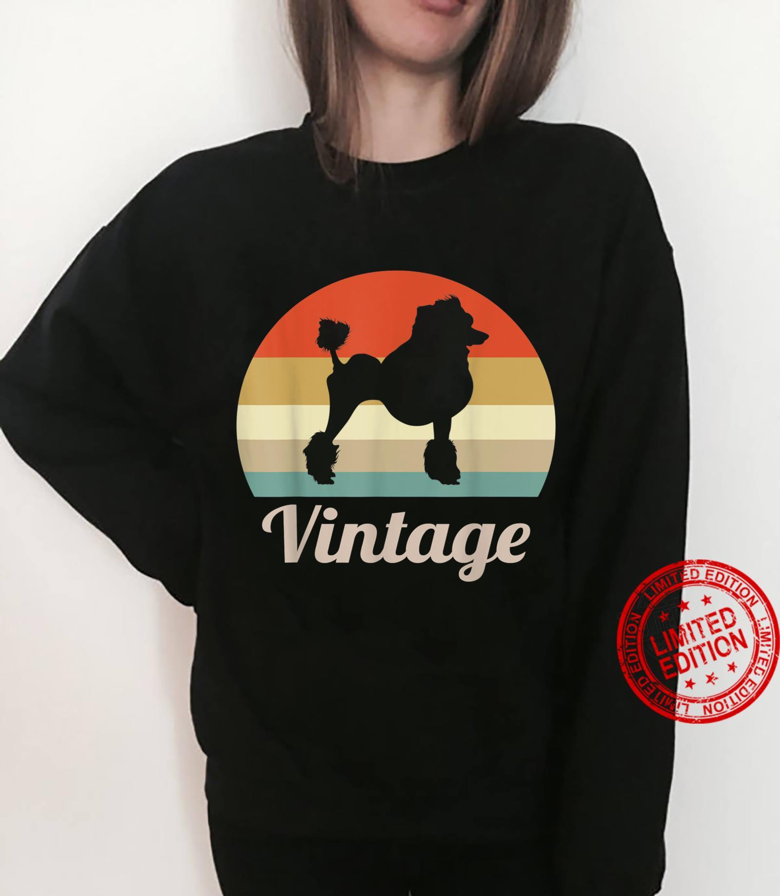 Poodle Dog Vintage Retro Style Shirt sweater