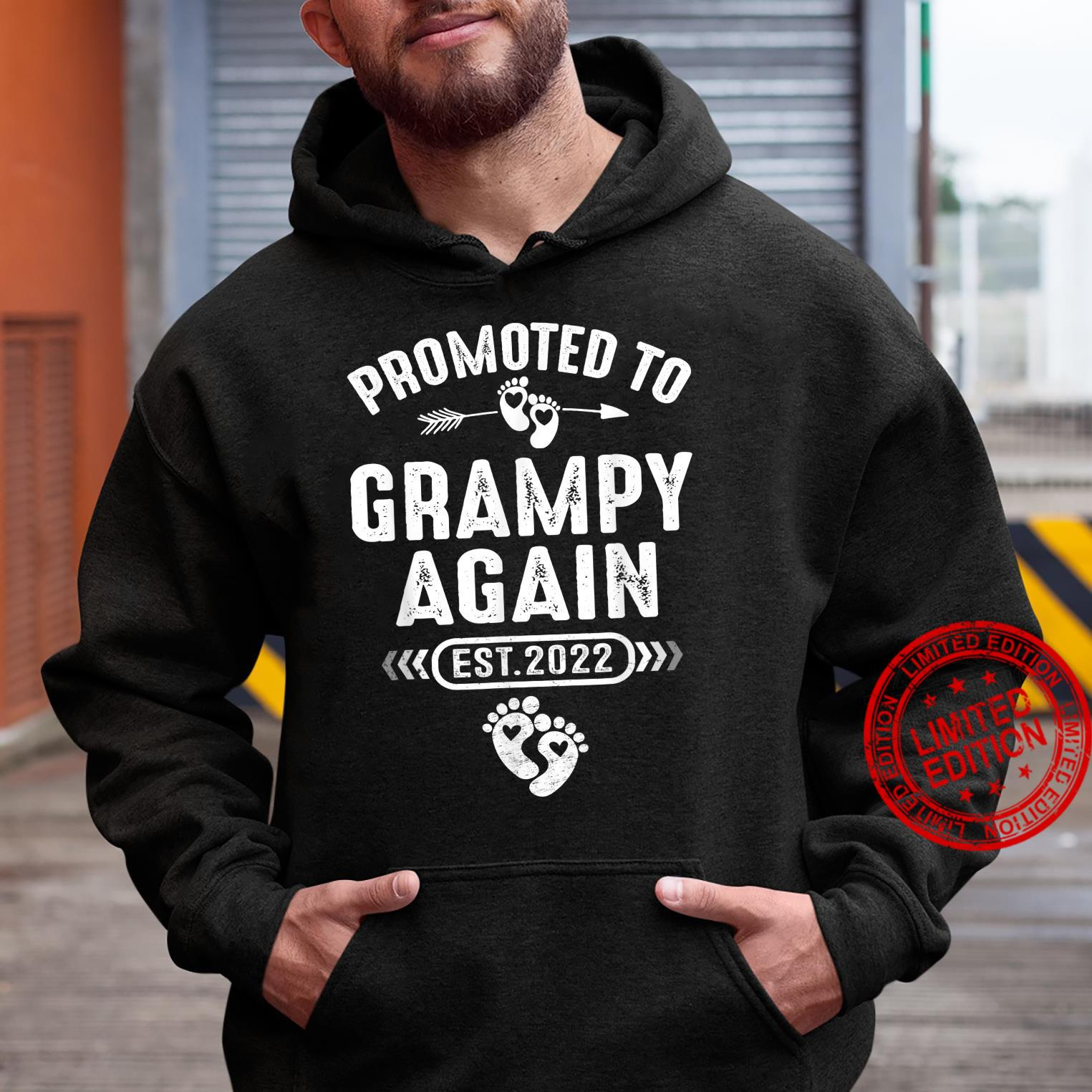 Promoted To Grampy Again Est 2022 Soon To Be Grampy Shirt hoodie