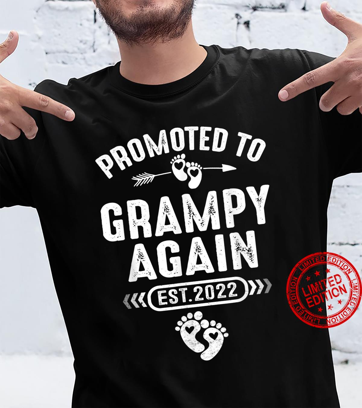 Promoted To Grampy Again Est 2022 Soon To Be Grampy Shirt