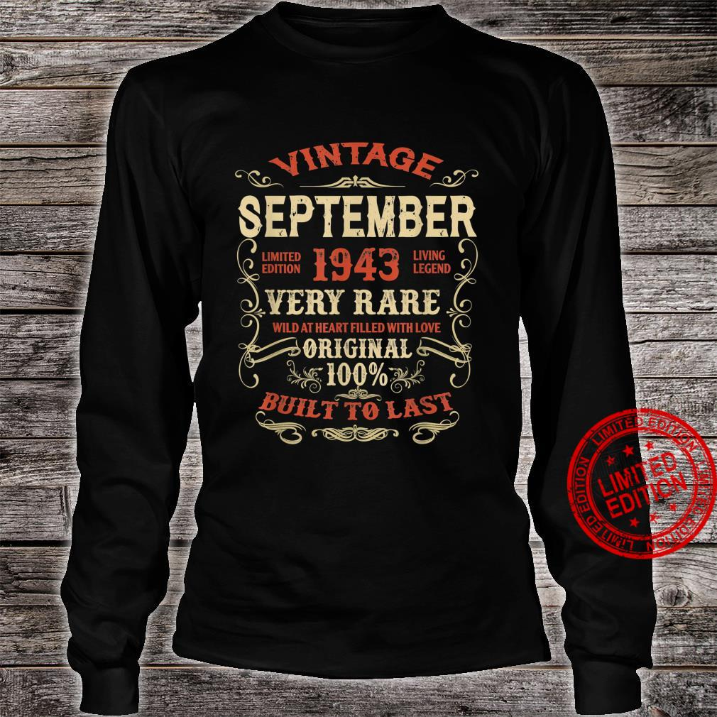 September 1943 78Th Birthday 78 Years Of Being Awesome Shirt long sleeved