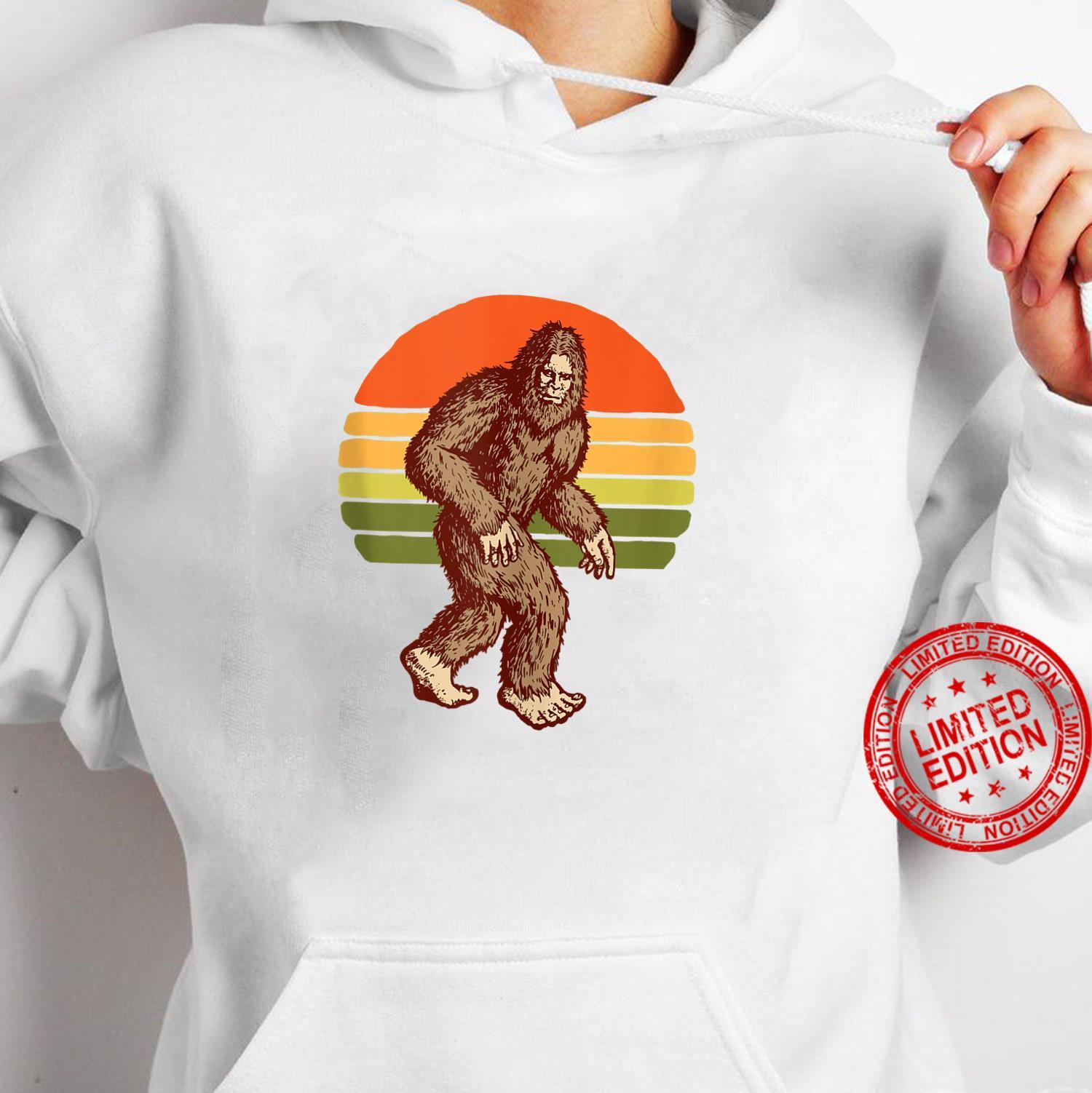 Seventies Bigfoot Retro Sasquatch Vintage Sunset 70s Sun Shirt hoodie