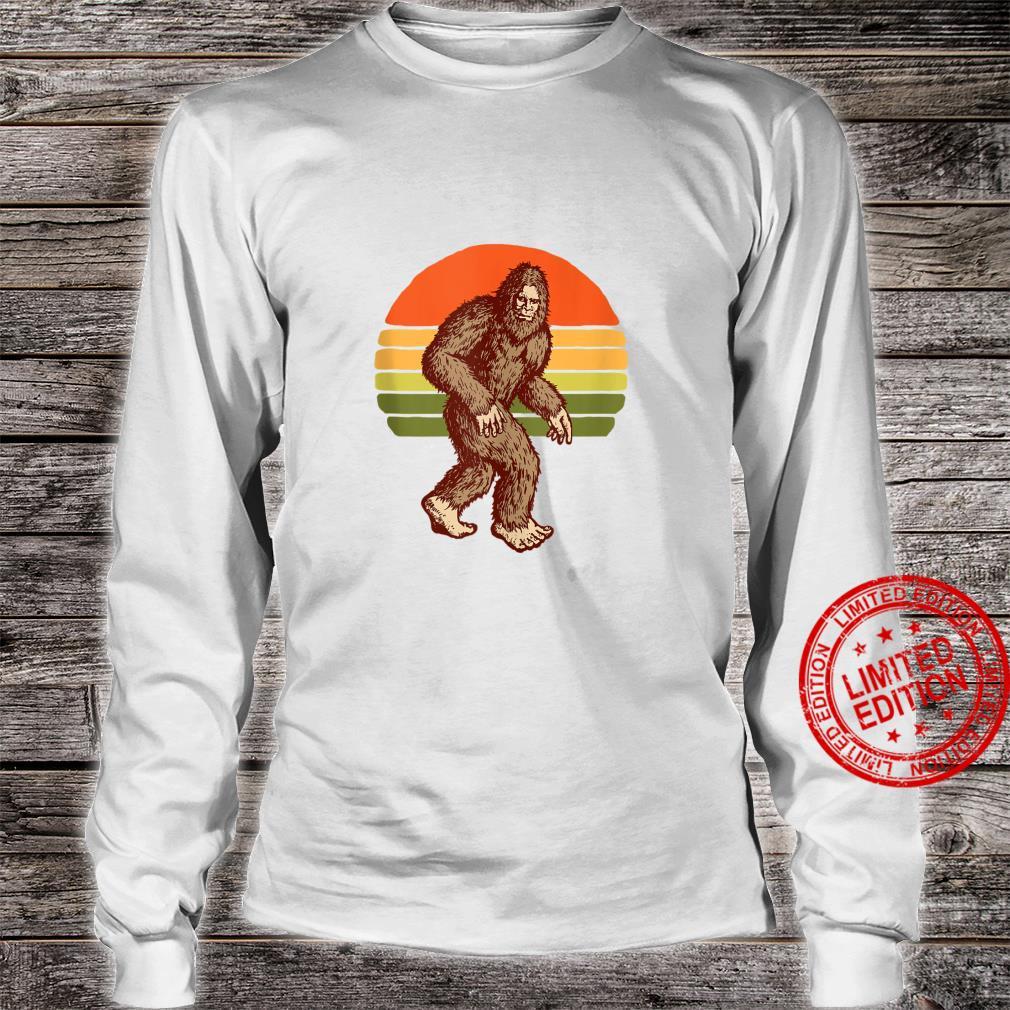 Seventies Bigfoot Retro Sasquatch Vintage Sunset 70s Sun Shirt long sleeved
