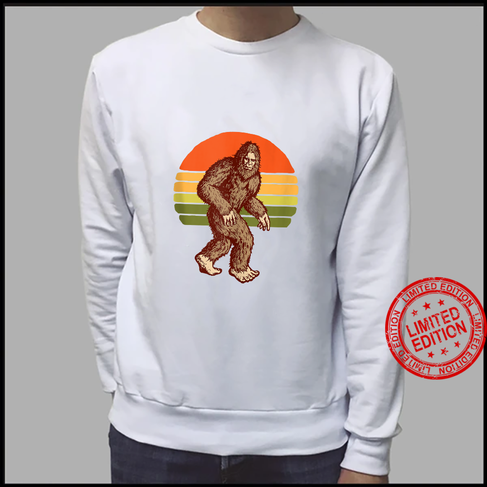 Seventies Bigfoot Retro Sasquatch Vintage Sunset 70s Sun Shirt sweater