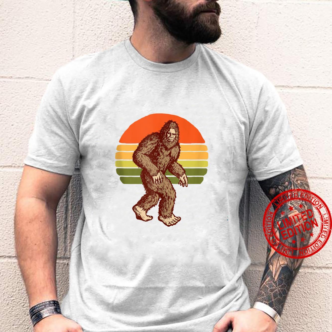 Seventies Bigfoot Retro Sasquatch Vintage Sunset 70s Sun Shirt