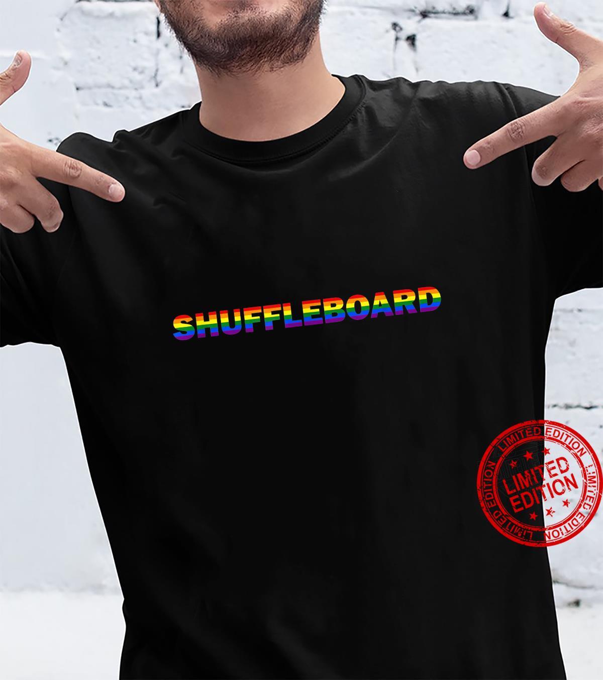 Shuffleboard Rainbow Shirt
